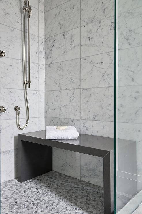 A shower bench would make it a lot easier and safer for a senior to shower