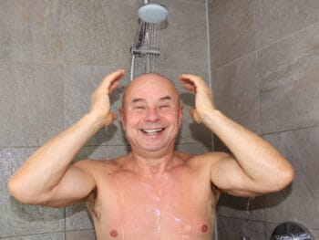 hand held shower head for elderly