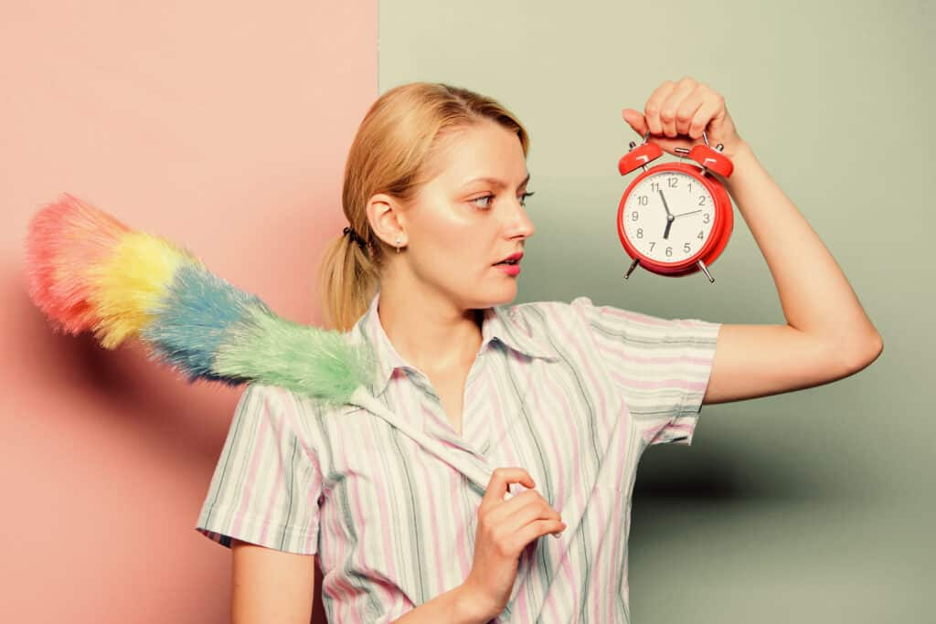 stay at home cleaning schedule